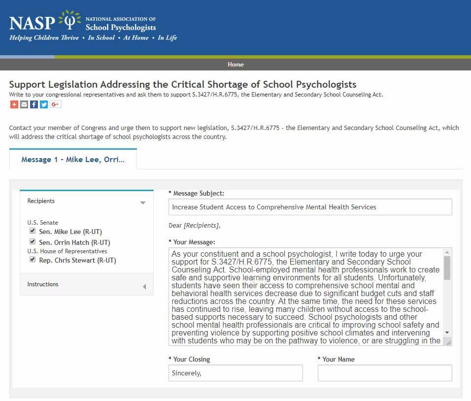 Utah Association of School Psychologists - Blog